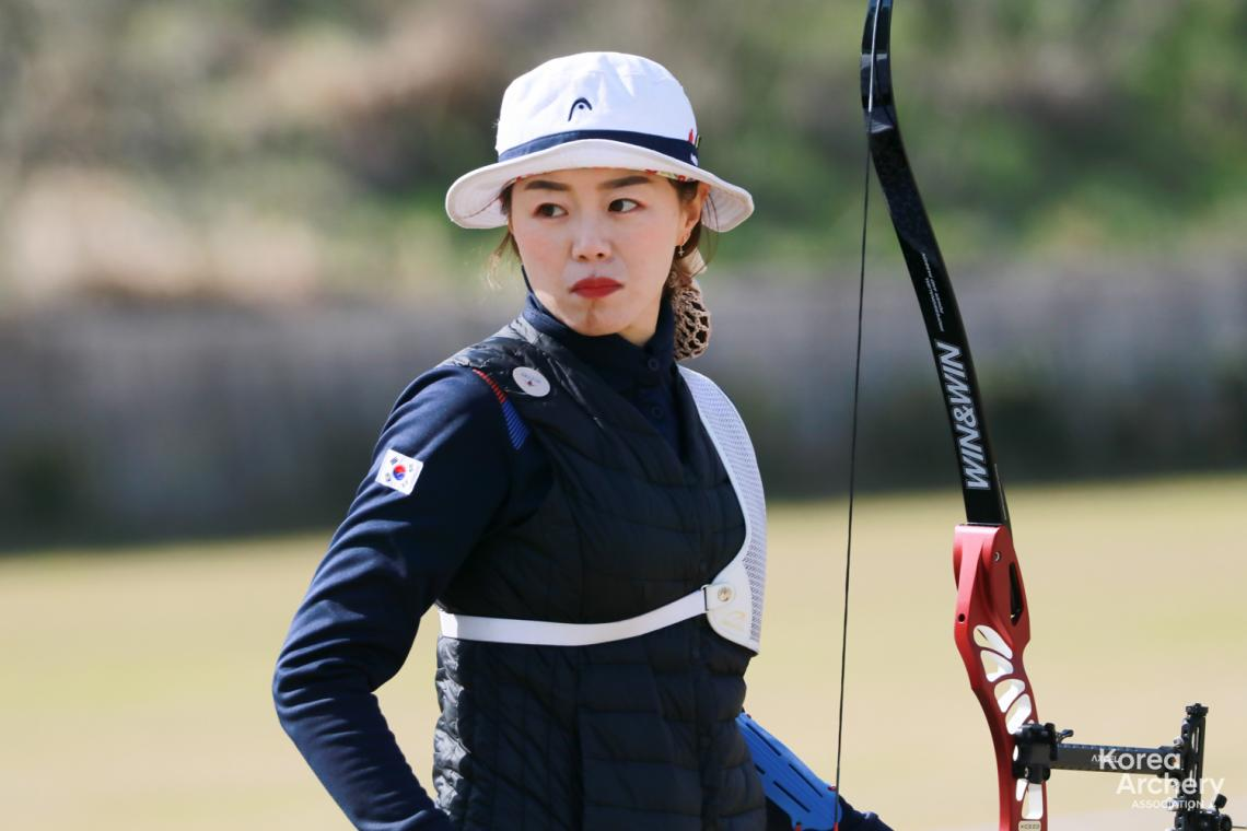 Chang Hye Jin at the Korean national team trials in 2021.