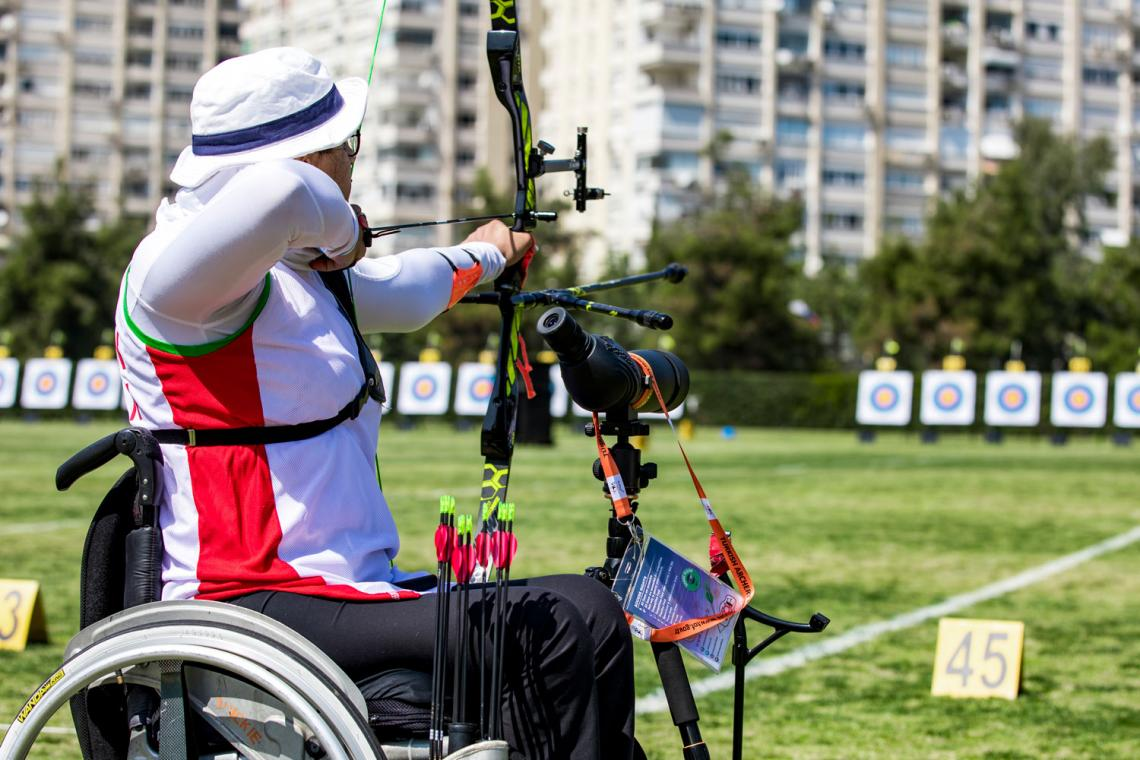 Zahra Nemati shoots during practice at the European Grand Prix in Antalya in 2021.