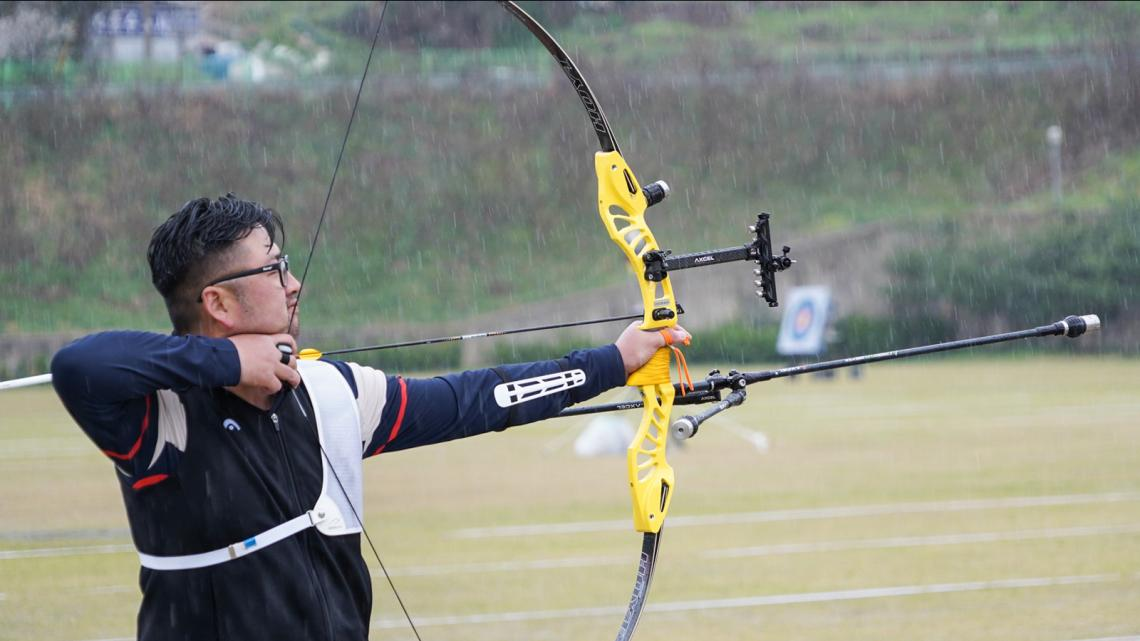 Kim Woojin at the Korean national team trials in 2021.