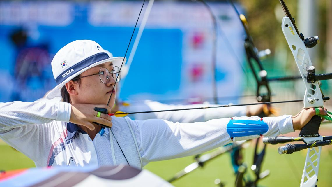 Korea's An San becomes 3rd recurve archer to hit 1400 points   World Archery