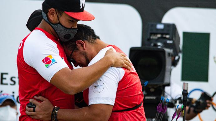 Luis Alvarez emotional after qualifying an Olympic quota place for Tokyo 2020.
