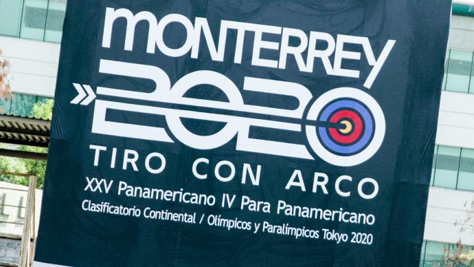 Branding at the Pan American Championships in 2021.