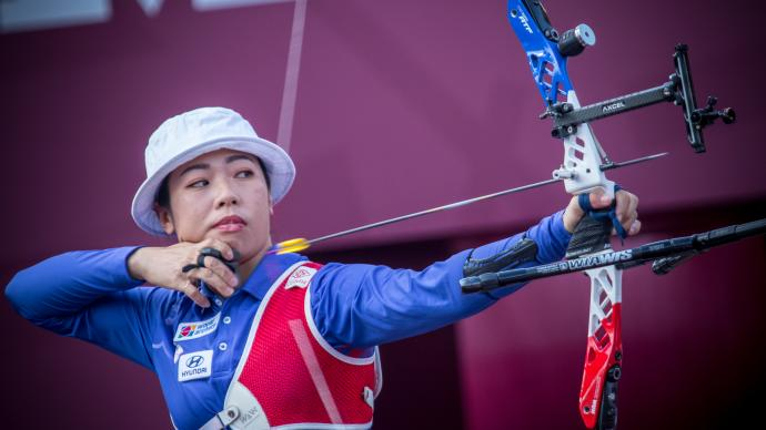 Tan Ya-Ting shoots during the Hyundai Archery World Cup Final in 2019.