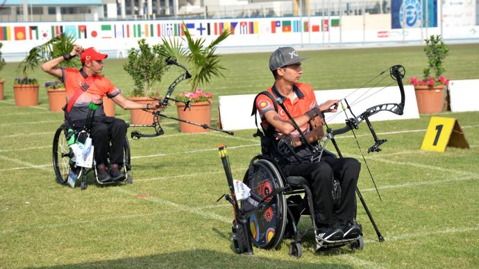 The W1 final at the Fazza para world ranking tournament in 2021.