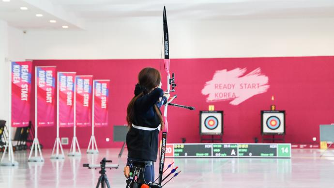 Chang Hye Jin shoots in replica stadium ahead of the Tokyo 2020 Olympic Games.